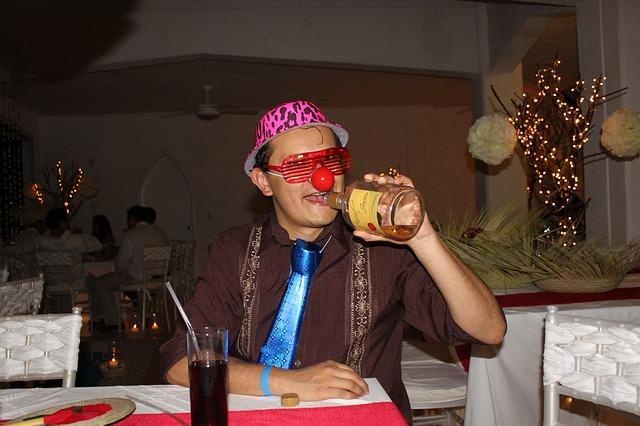 Haciendo el payaso en una fiesta