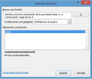 Función definida por el usuario