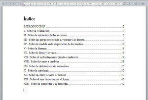 Documento de Word con Indice