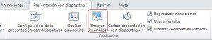 botón Ensayar intervalos de PowerPoint