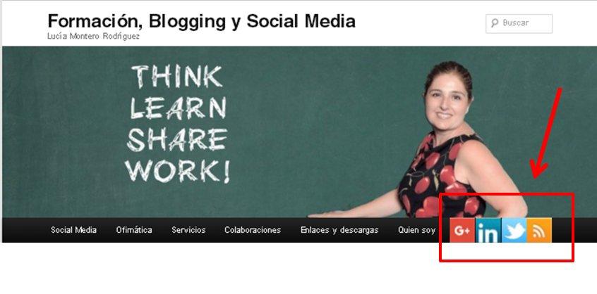 Iconos sociales en la web