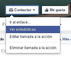 Opciones adicionales para un botón de llamada a la acción en Facebook