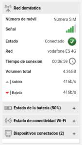 Consumo y bateria de WifiAway