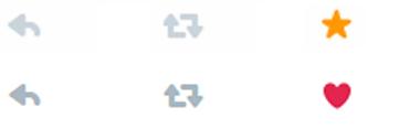De Favorito a Me gusta en Twitter