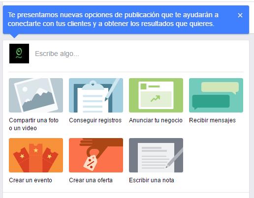Nuevos tipos de publicaciones en Facebook