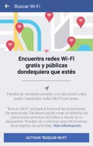 Encuentras redes Wi-Fi con Facebook