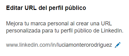 Editar URL del perfil público en LinkedIn