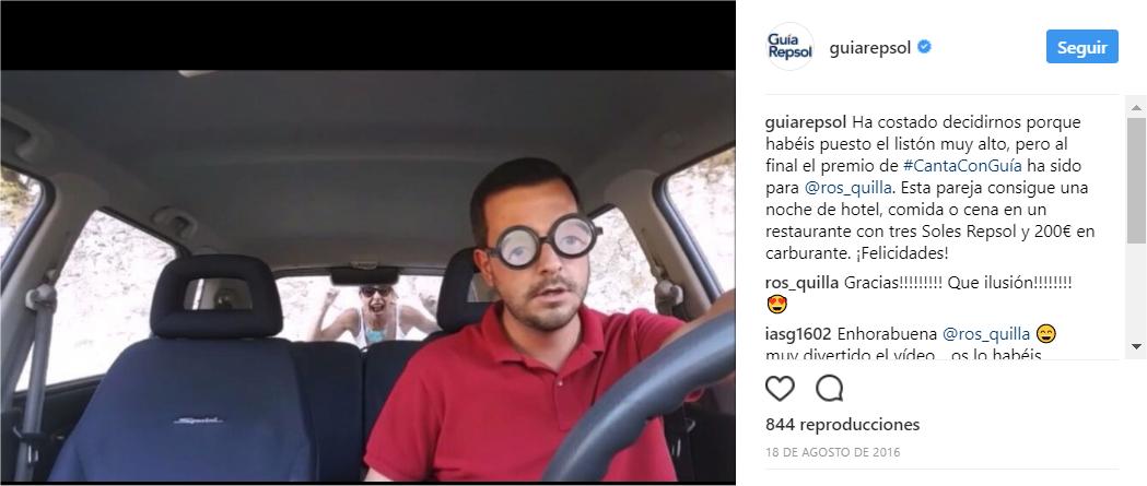 Ejemplo de búsqueda en Instagram