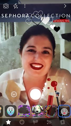 Sephora en la cámara de Facebook