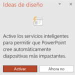 Activar Ideas de diseño en PowerPoint