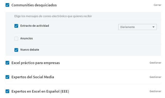 Cambiar la frecuencia de las publicaciones en los grupos de LinkedIn