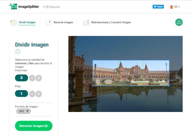 Ajustes para mosaico de Instagam con ImageSplitter