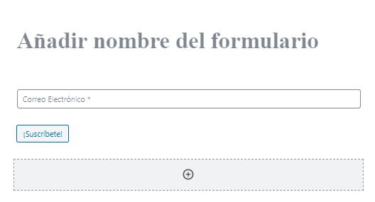 Plantilla base para formulario de suscripción en MailPoet