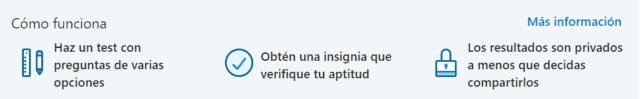 Funcionamiento del test de aptitudes de LinkedIn