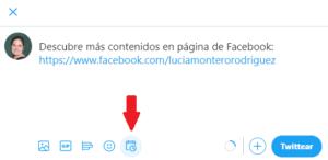 Botón para programar tuits en Twitter