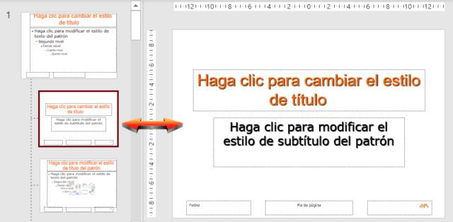 Patrón individual de diapositiva en PowerPoint