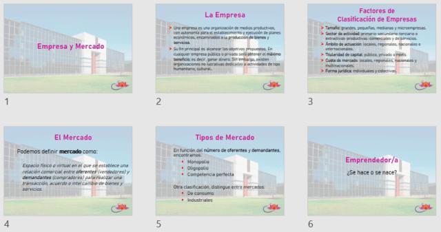 Resultado de aplicar un patrón de diapositivas en una presentación de PowerPoint