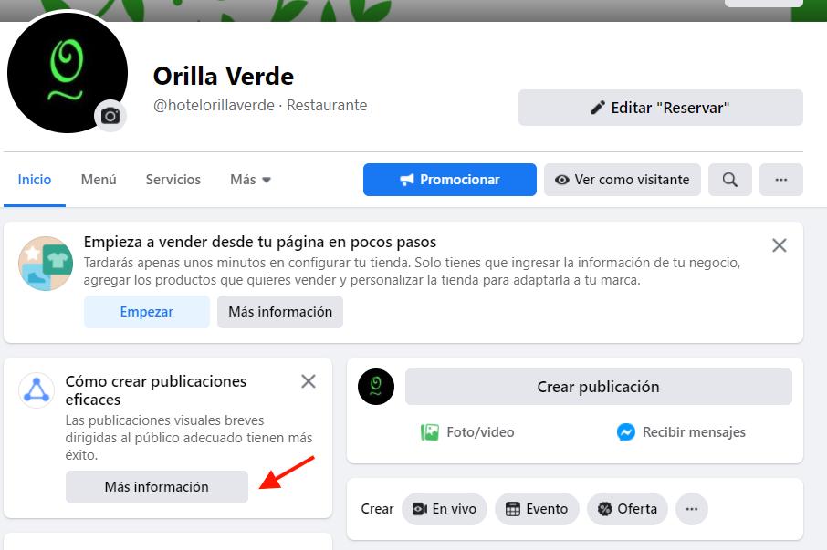 Acceso para crear publicaciones eficaces en Facebook