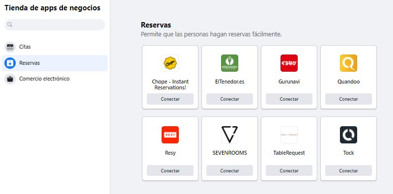 Apps de reservas para integrar en una fanpage