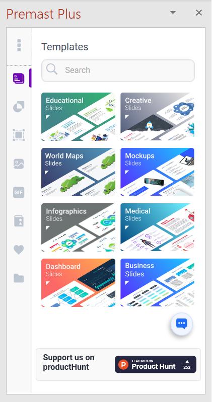 Elementos de diseño de Premast Plus en PowerPoint