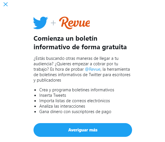 Nuevos Boletines Informativos en Twitter