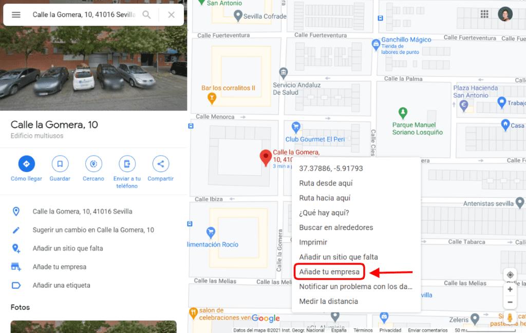 Añadir un negocio desde Google Maps