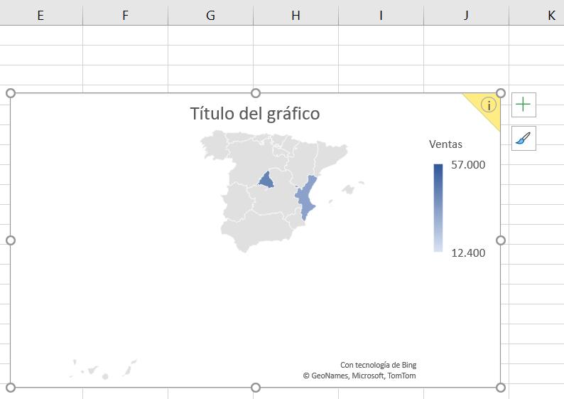 Gráfico de mapa coroplético generado a partir de provincias