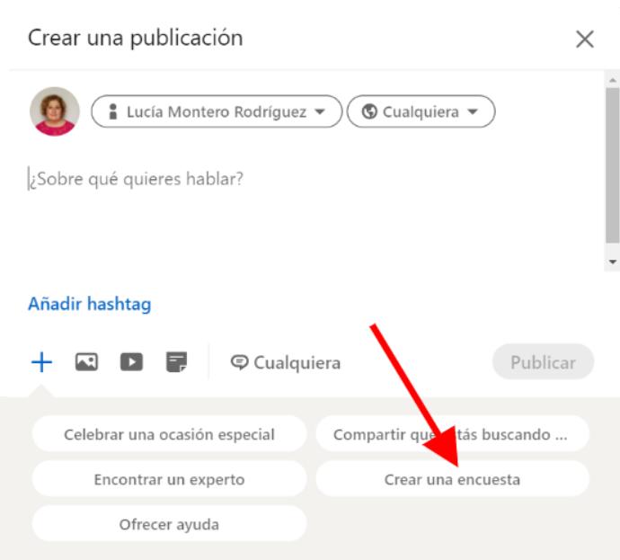 Crear una encuesta en LinkedIn