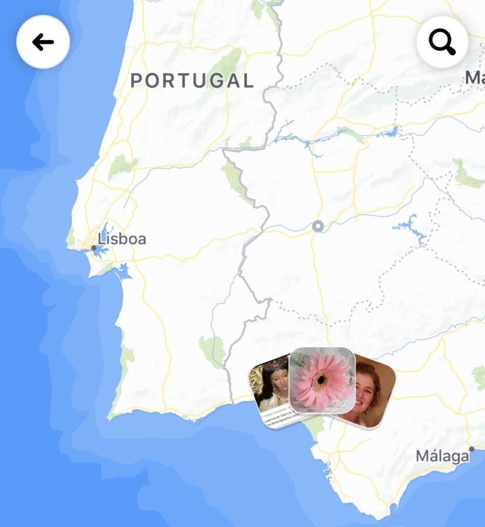 Mapa en Facebook con la localización de tus contactos