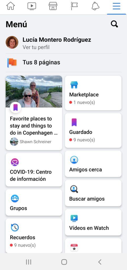 Opción de Facebook para saber la localización de tus amigos